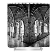 13th Century Gothic Cloister Shower Curtain