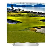 #17 At Chambers Bay Golf Course - Location Of The 2015 U.s. Open Championship Shower Curtain by David Patterson