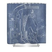 1856 Revolver Patent Shower Curtain