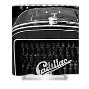 1907 Cadillac Model M Touring Grille Emblem Shower Curtain