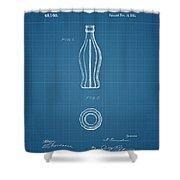 1915 Coca Cola Bottle Design Patent Art 3 Shower Curtain