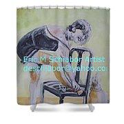 1920s Girl Shower Curtain