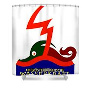 1924 - Austria Electricity Poster Advertisement - Color Shower Curtain