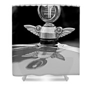 1927 Chandler 4-door Hood Ornament Shower Curtain