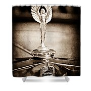 1928 Nash Coupe Hood Ornament Shower Curtain