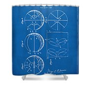 1929 Basketball Patent Artwork - Blueprint Shower Curtain