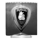 1930 Chrysler Plymouth Emblem Shower Curtain