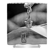 1930 Rolls-royce Phantom I Transformal Phaeton Hood Ornament Shower Curtain