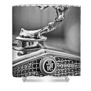 1931 Cadillac 355 Hood Ornament Shower Curtain