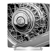 1931 Chrysler Cg Imperial Dual Cowl Phaeton Spare Tire Emblem Shower Curtain