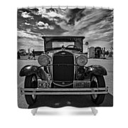 1931 Model T Ford Monochrome Shower Curtain