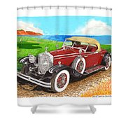 Rolls Royce Henley Roadster Shower Curtain