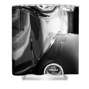 1932 Auburn Twelve Custom Phaeton Taillight Emblem Shower Curtain