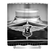1932 Cadillac Lasalle Grille Emblem Shower Curtain