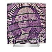 1932 George Washington Stamp Shower Curtain