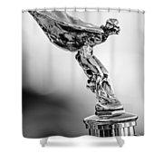 1932 Rolls-royce Phantom II Sedanca De Ville Hood Ornament Shower Curtain