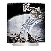 1933 Chrysler Imperial Hood Ornament - Emblem Shower Curtain