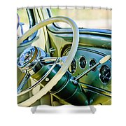 1933 Pontiac Steering Wheel -0463c Shower Curtain