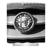 1934 Alfa Romeo 8c Zagato Emblem Shower Curtain