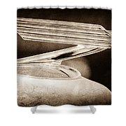 1934 Chevrolet Hood Ornament Shower Curtain