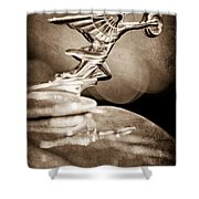 1934 Packard Coupe Hood Ornament Shower Curtain