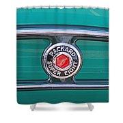 1934 Packard Super 8 Emblem Shower Curtain