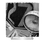 1935 Aston Martin Ulster Race Car Grille Shower Curtain