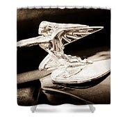 1935 Packard Hood Ornament - Goddess Of Speed Shower Curtain