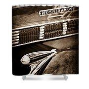 1935 Reo Speed Wagon 6ap Pickup Emblem Shower Curtain