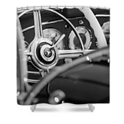 1936 Mercedes-benz 540 Special Roadster Steering Wheel Shower Curtain