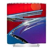 1937 Chevrolet Hood Ornament Shower Curtain