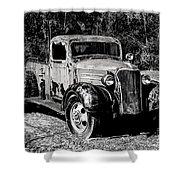 1937 Chevy Wrecker Shower Curtain