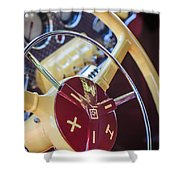1937 Cord 812 Phaeton Steering Wheel Shower Curtain