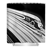 1937 Pontiac Chief Custom Hood Ornament Shower Curtain