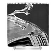 1938 Dodge Hood Ornament Shower Curtain