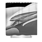 1938 Ford Woody Hood Ornament Shower Curtain
