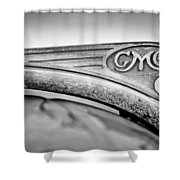 1938 Gmc Hood Ornament Shower Curtain by Jill Reger