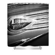 1938 Lincoln Zephyr Emblem Shower Curtain