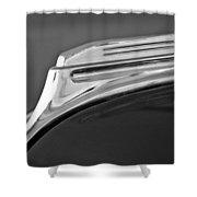 1938 Oldsmobile Rj8 Club Coupe Hood Ornament Shower Curtain