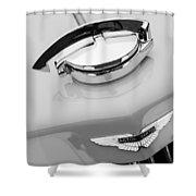1939 Aston Martin 15-98 Abbey Coachworks Swb Sports Grille Emblem Shower Curtain