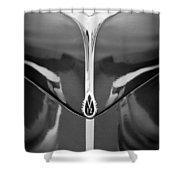 1940 Lincoln Zephyr Grille Emblem - Hood Ornament Shower Curtain