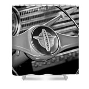 1941 Chevrolet Steering Wheel Emblem Shower Curtain