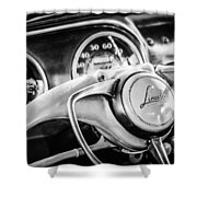 1941 Lincoln Continental Coupe Steering Wheel Emblem -0858c Shower Curtain