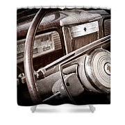 1941 Packard Steering Wheel Emblem Shower Curtain