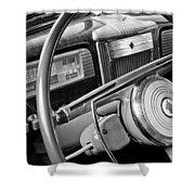 1941 Packard Steering Wheel Shower Curtain