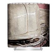 1947 Mercury Convertible Hood Ornament - Emblem Shower Curtain