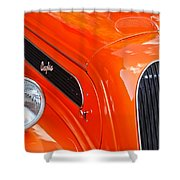 1948 Anglia 2-door Sedan Grille Emblem Shower Curtain