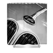 1948 Anglia Grille Emblem -510c Shower Curtain