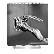 1948 Chrysler Town And Country Convertible Hood Ornament Shower Curtain