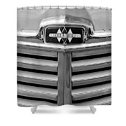 1948 International Hood Emblem Shower Curtain